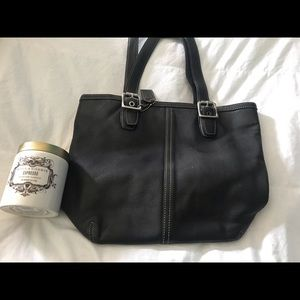 Coach Bags - Black Leather Coach Bag